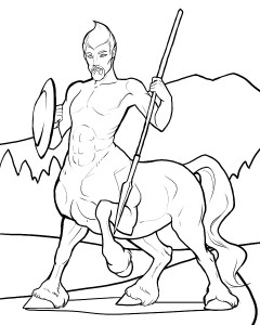 Centaur coloring page for Patreon subscribers